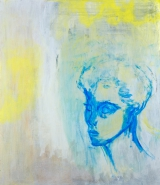 <h5>Feeling Blue Thinking Yellow - SOLD</h5><p>Acrylic on Canvas 70cm x 60cm</p>