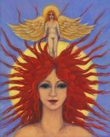 <h5>Angel Head</h5><p>Acrylic on Board (giclee print available)</p>