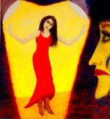<h5>Golden Girl</h5><p>Oil on Board 50cm x 50cm</p>