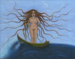 <h5>Sea Goddess</h5><p>Acrylic on Board (giclee print available)</p>