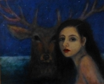 <h5>Stag Starlight</h5><p>Acrylic on Board (giclee print available)</p>