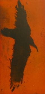 <h5>As The Crow Flies</h5><p>Etching & Aquatint Orange 34cm x 17cm</p>