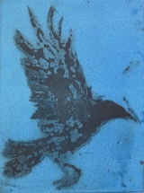 <h5>Deadly Ascent</h5><p>Etching & Aquatint Blue 30cm x 22cm</p>