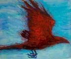 <h5>Red Rage</h5><p>Oil on Canvas 25.5cm x 30.5cm</p>
