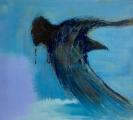 <h5>Into The Blue</h5><p>Oil on Linen - Framed Size 51cm x 55cm x 4.5cm</p>