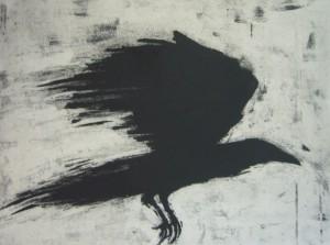 Judy Logan Speed Crow Limited Edition Print